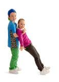 Hip Hop舞蹈成为孩子的伙伴 免版税库存照片