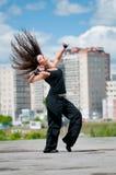 Hip-hop über städtischer Landschaft Stockfotos