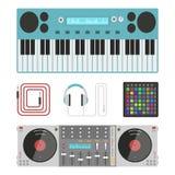 Hip hop accessory musician instruments breakdance expressive rap music dj vector illustration. Stock Photography