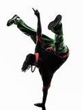 Hip hop acrobatic break dancer breakdancing young man handstand Royalty Free Stock Image