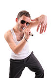 Hip hop artist. Isolated against white background Royalty Free Stock Image