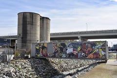 hip-hop artysty malowidło ścienne Memphis, TN zdjęcia royalty free