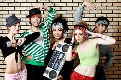 Hip-hop band Royalty Free Stock Photo