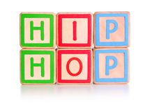 Hip Hop Blocks. Children's toy blocks spelling hip hop with clipping path Stock Image