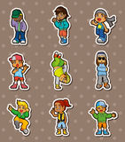 Hip hop boy stickers Royalty Free Stock Images