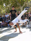 Hip-Hop breakdancers compete in pairs, Stock Photo