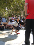 Hip-Hop breakdancers compete in pairs, Stock Images