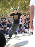 Hip-Hop breakdancers compete in pairs, Stock Photos