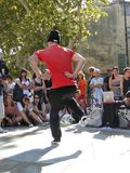 Hip-Hop breakdancers compete in pairs, Royalty Free Stock Images