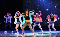 Hip hop-The campus dance Stock Photo