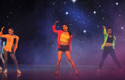 Hip hop-The campus dance Stock Photography