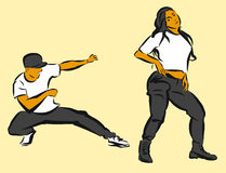 Hip Hop Choreography. Hand Drawn Sketched Artwork Royalty Free Stock Image