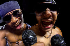Hip Hop Concert with Rappers Royalty Free Stock Photography