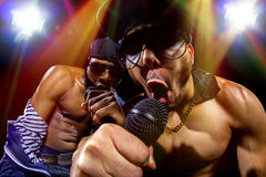 Hip Hop Concert with Rappers Royalty Free Stock Photos