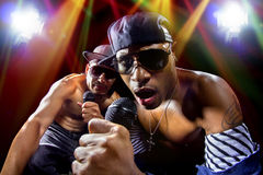 Hip Hop Concert with Rappers Stock Photography