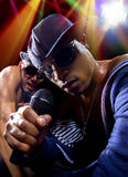 Hip Hop Concert with Rappers Stock Photo