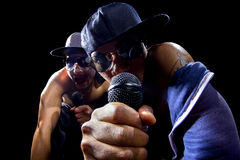 Hip Hop Concert with Rappers Royalty Free Stock Images
