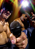 Hip Hop Concert with Rappers Stock Image