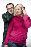 Hip-hop couple Royalty Free Stock Photo