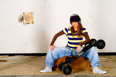 Hip hop culture, teenager Stock Images