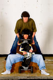 Hip hop culture, teenagers Stock Images