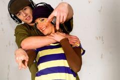 Hip hop culture, teenagers Stock Photos