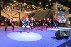 Hip-hop da dança na fase Fotografia de Stock