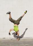 Hip hop dance. Young hip hop dancer dance outdoors stock photo