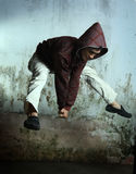 Hip hop dancer. In action royalty free stock photos