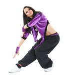 Hip hop dancer. Young hip hop dancer posing on white background Stock Photo