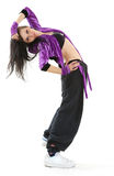 Hip hop dancer. Young hip hop dancer posing on white background Royalty Free Stock Images