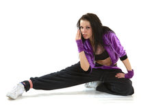 Hip hop dancer. Young hip hop dancer posing on white background Stock Photography