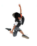Hip hop dancer. In white background royalty free stock photo