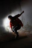 Hip hop dancer. Portrait of hip hop dancer in action royalty free stock photography