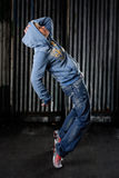 Hip hop dancer. On a street in the night stock photo