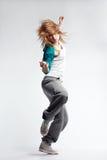 Hip-hop dancer. Teenage girl dancing hip-hop studio series Royalty Free Stock Images