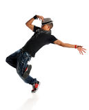 Hip Hop Dancer. African American hip hop dancer isolated over white background royalty free stock image