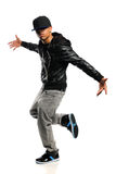 Hip Hop Dancer. African American hip hop dancer isolated over white background stock images