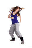 The hip-hop dancer. On the white background royalty free stock images