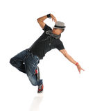 Hip Hop Dancer. Performing isolated over white background stock photos