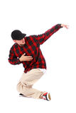 Hip hop dancer. Isolated over white background Royalty Free Stock Photo