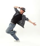 Hip hop dancer. Over white background royalty free stock images