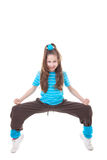 Hip hop dancer. Child hip hop dancer dancing street dance Stock Photography