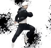 Hip-hop dancer. Very handsome hip-hop dancers, interesting background stock photos