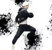 Hip-hop dancer. Very handsome hip-hop dancers, interesting background Stock Photos