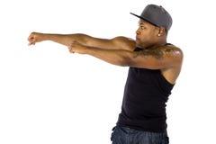 Hip Hop Dancer Advertising Something Royalty Free Stock Photos