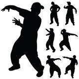 Hip hop dancer art silhouette Stock Photo