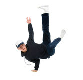 Hip hop dancer.breakdance. Cool hip hop style dancer.breakdance Shot over white background Stock Images