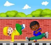 Hip hop dancer cartoon. Illustration of hip hop dancer cartoon Royalty Free Stock Images