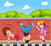 Hip hop dancer cartoon. Illustration of hip hop dancer cartoon Stock Photography